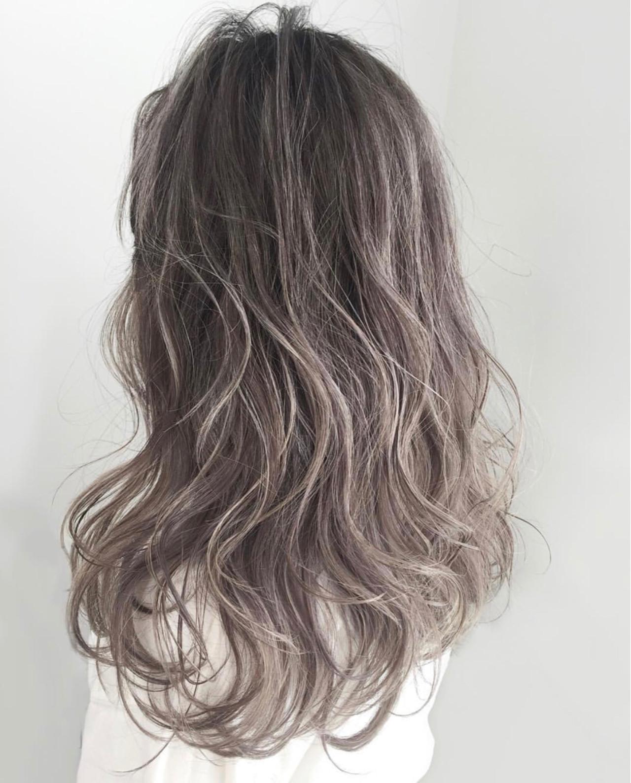 ヘアアレンジ ストリート アッシュ グレージュヘアスタイルや髪型の写真・画像
