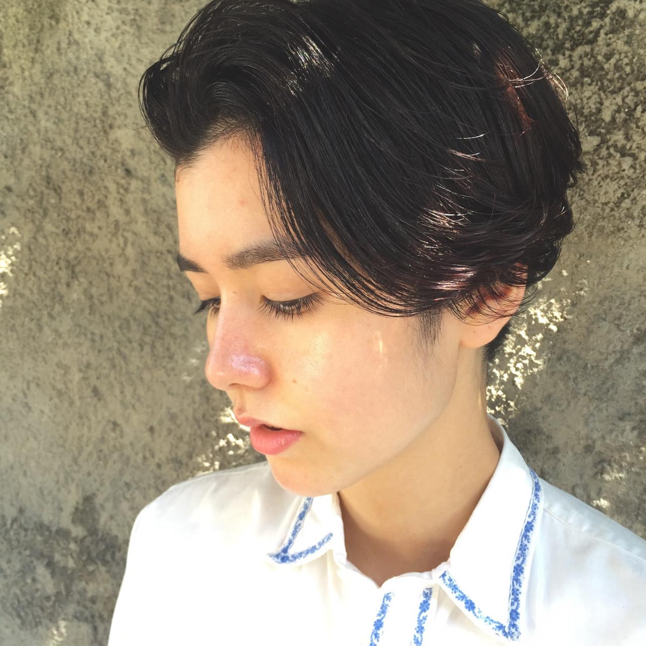 黒髪 パーマ ベリーショート ショート ヘアスタイルや髪型の写真・画像 | 小西敬二郎 / Heartim