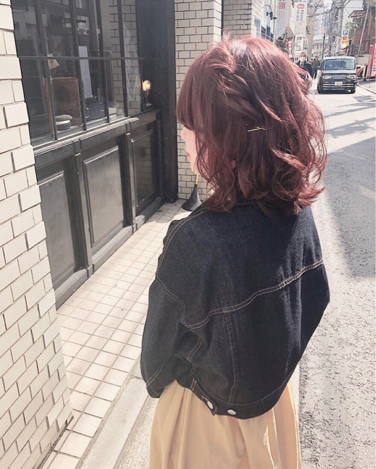 簡単ヘアアレンジ ヘアアレンジ ミディアム ガーリー ヘアスタイルや髪型の写真・画像   hii.de@✂︎ / Maison de sisi