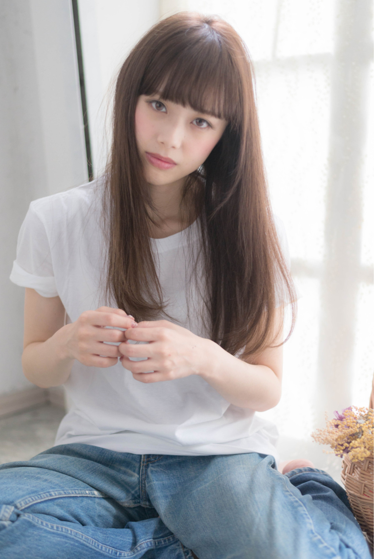 外国人風 ブラウン レイヤーカット ロング ヘアスタイルや髪型の写真・画像 | 淀川 純 / hair salon abiquiu