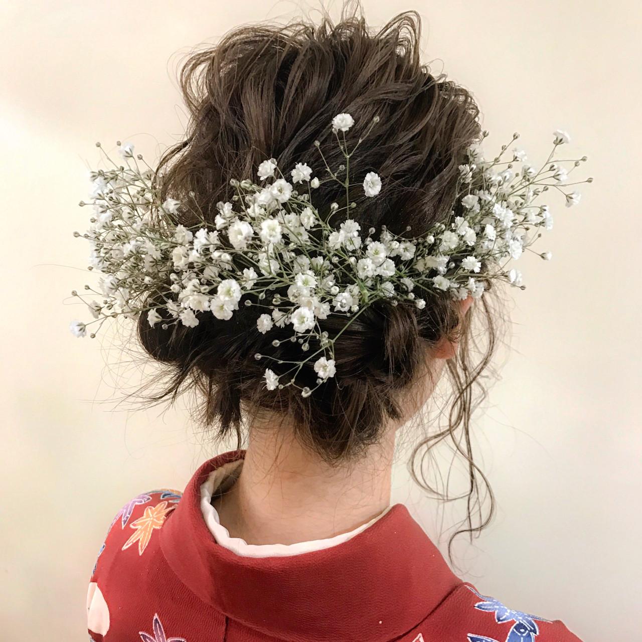 波ウェーブ ゆるふわ ナチュラル 謝恩会 ヘアスタイルや髪型の写真・画像 | yumiko/sapporoSKNOW / SKNOW