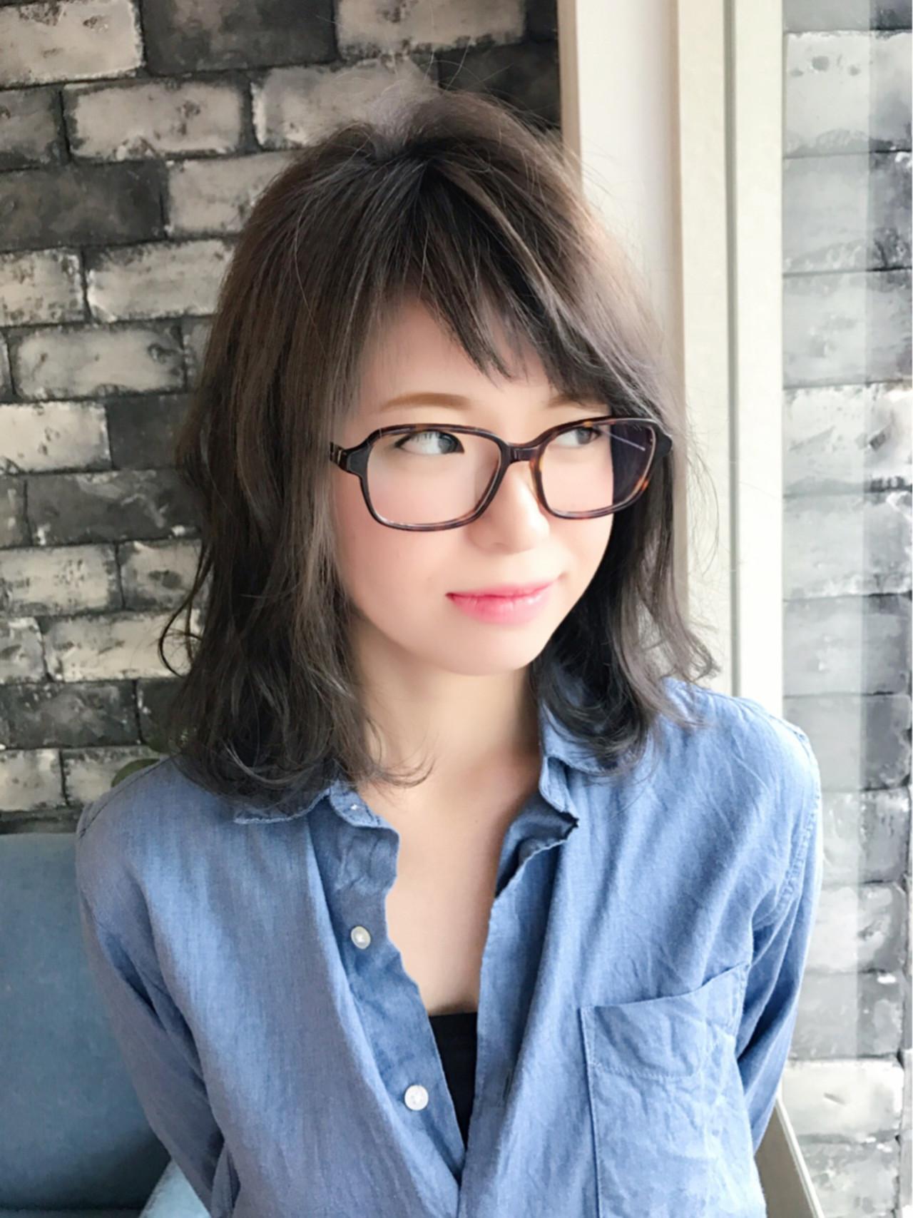 グレージュ ゆるふわ ベビーバング ナチュラル ヘアスタイルや髪型の写真・画像 | 満岡寛史/felice / felice