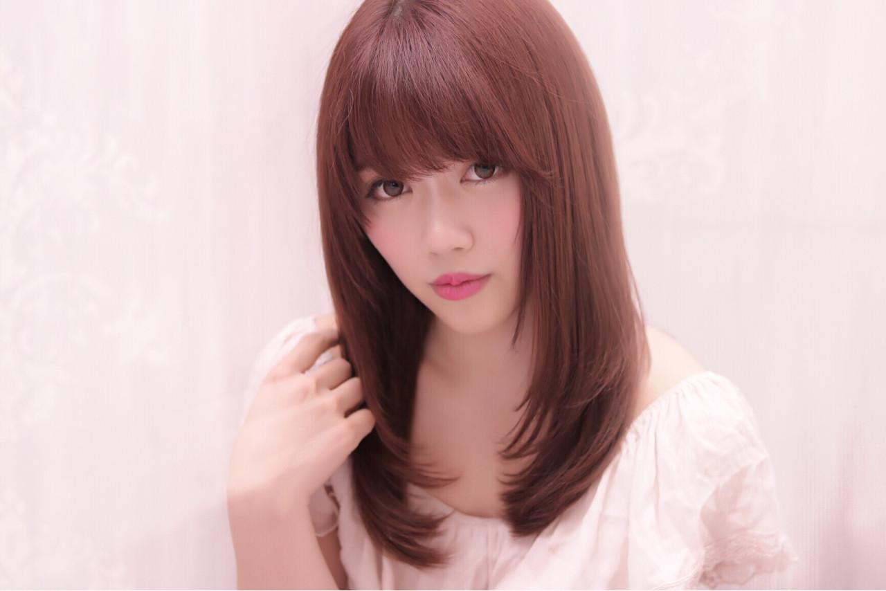 外国人風 フェミニン ガーリー 縮毛矯正ヘアスタイルや髪型の写真・画像