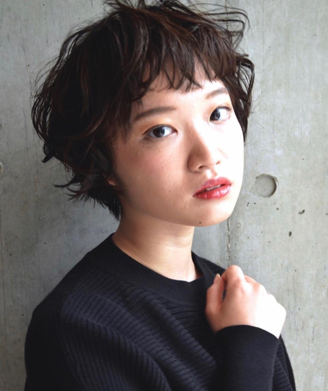 ハイライト ショートボブ ショート 外国人風 ヘアスタイルや髪型の写真・画像 | haruca shiono / imaii scaena×colore