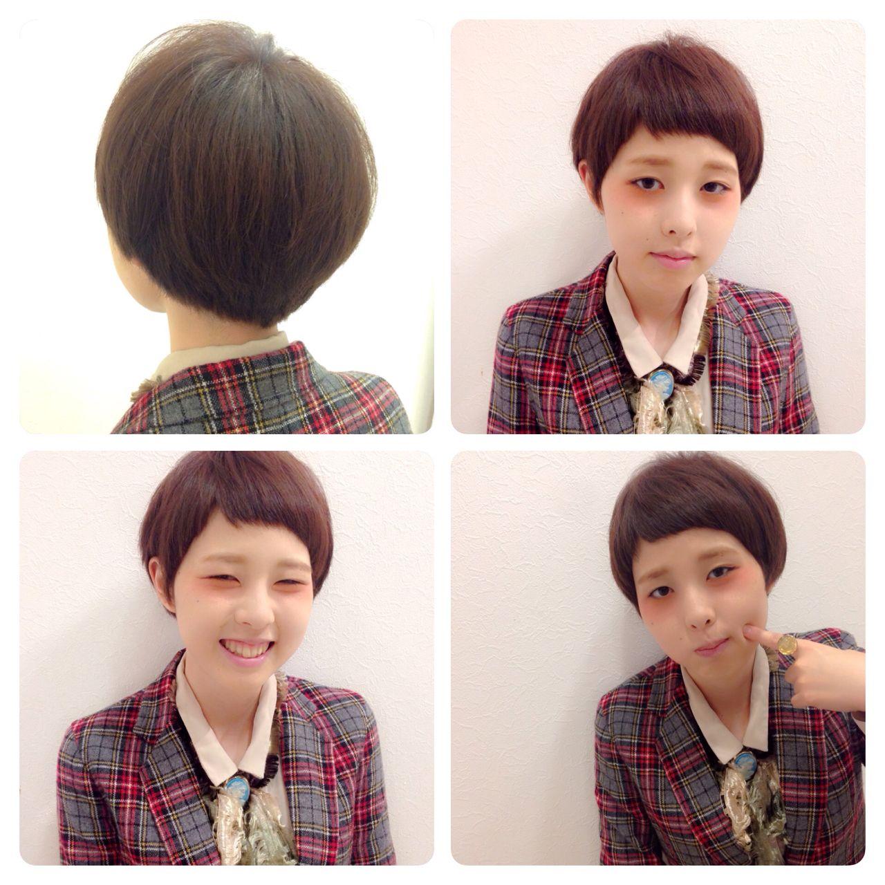 冬 ショート 秋 ストリート ヘアスタイルや髪型の写真・画像 | 岡 美里 / 福岡 久留米 arch