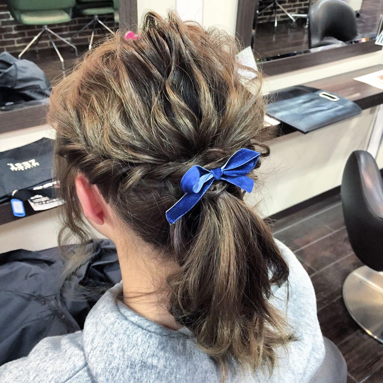ナチュラル ショート ポニーテール 大人かわいい ヘアスタイルや髪型の写真・画像 | 木村 達沖 / Lacisa