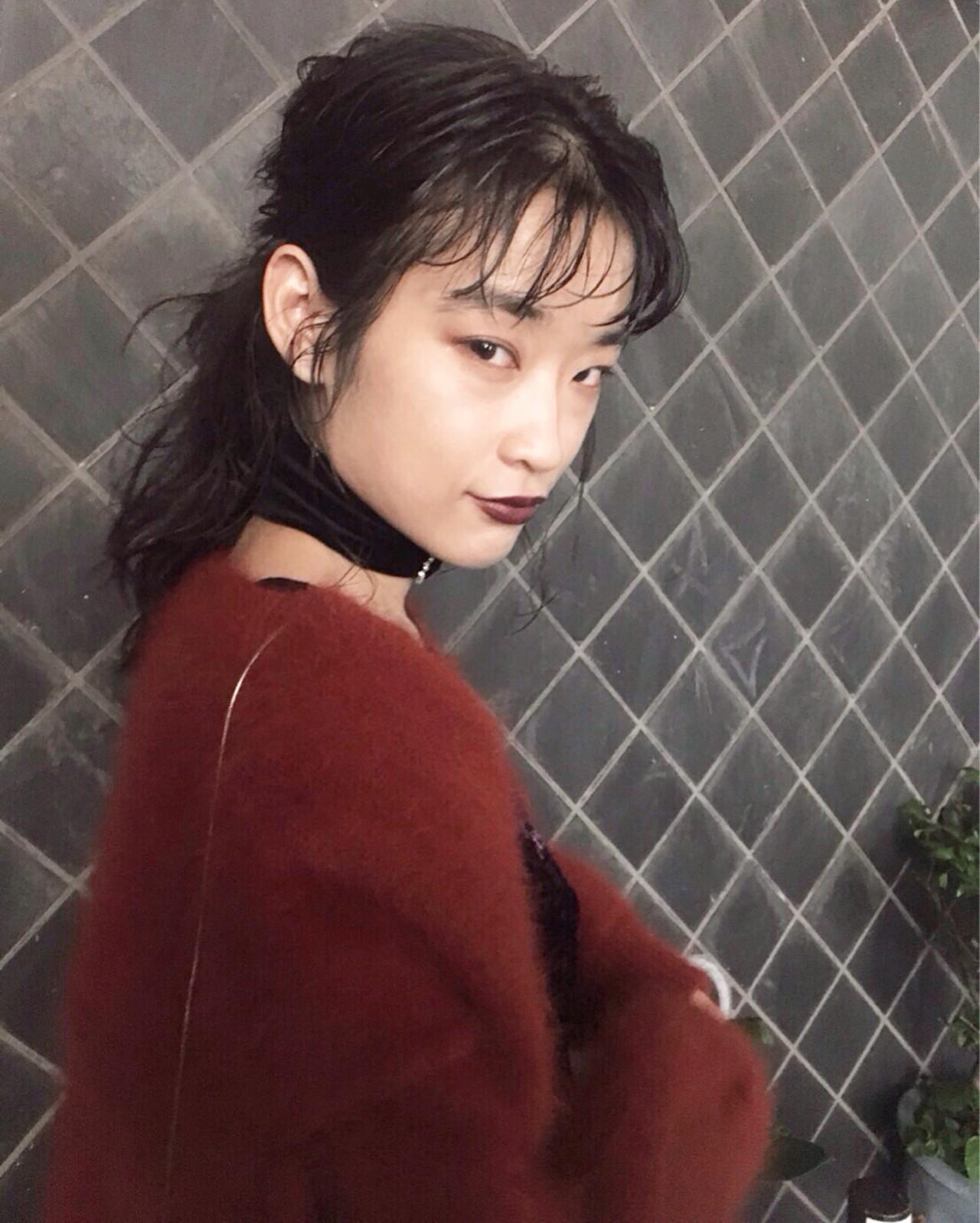 簡単ヘアアレンジ 色気 謝恩会 モード ヘアスタイルや髪型の写真・画像 | 丸山 勇人 / Tierra (ティエラ)