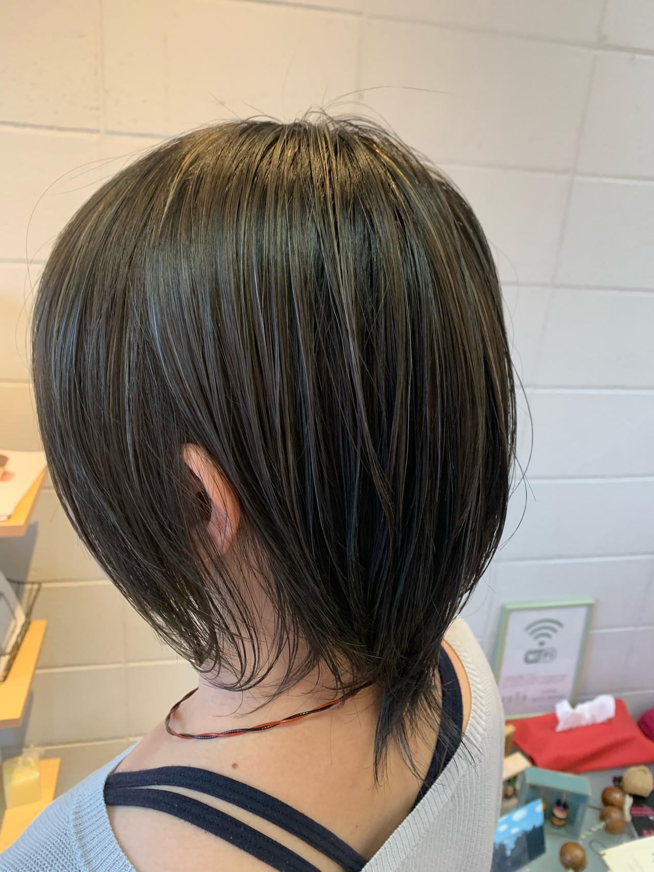 ハイライト 極細ハイライト 艶髪 ナチュラル ヘアスタイルや髪型の写真・画像 | Hatori Masaki / rela hair salon