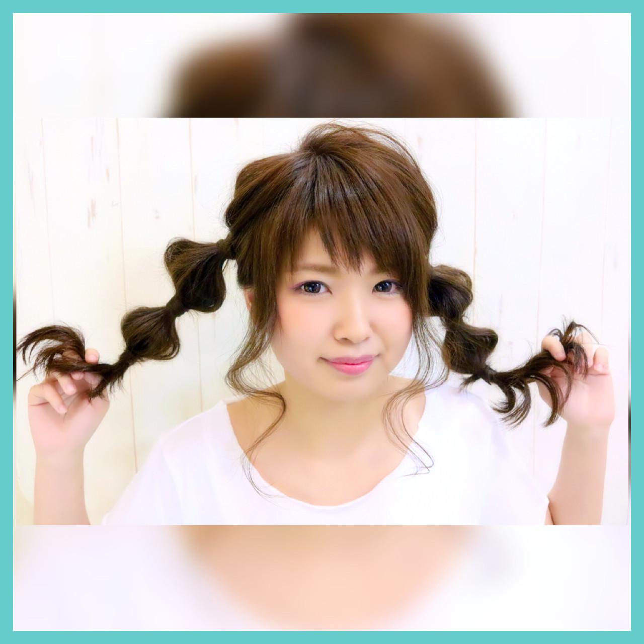ガーリー 簡単ヘアアレンジ ヘアアレンジ フェミニン ヘアスタイルや髪型の写真・画像 | kazuya imaizumi / rayfield toyohashi makino