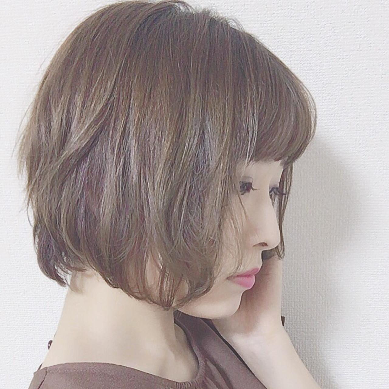 こなれ感 涼しげ 色気 ボブ ヘアスタイルや髪型の写真・画像 | 佐々木まゆ /