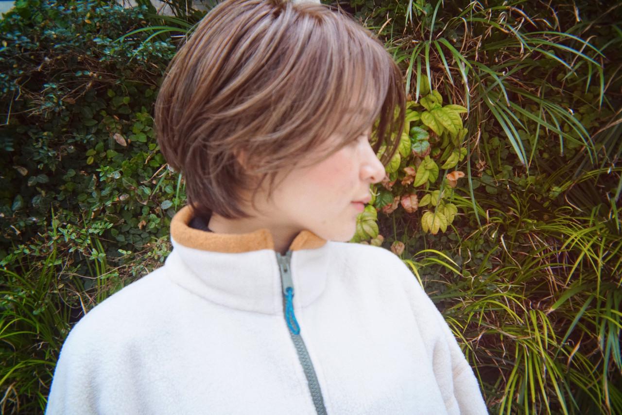ハンサムショート 3Dハイライト ナチュラル アッシュグレージュ ヘアスタイルや髪型の写真・画像 | 栗原貴史 PEEK-A-BOO / PEEK-A-BOO NEWoMan 新宿