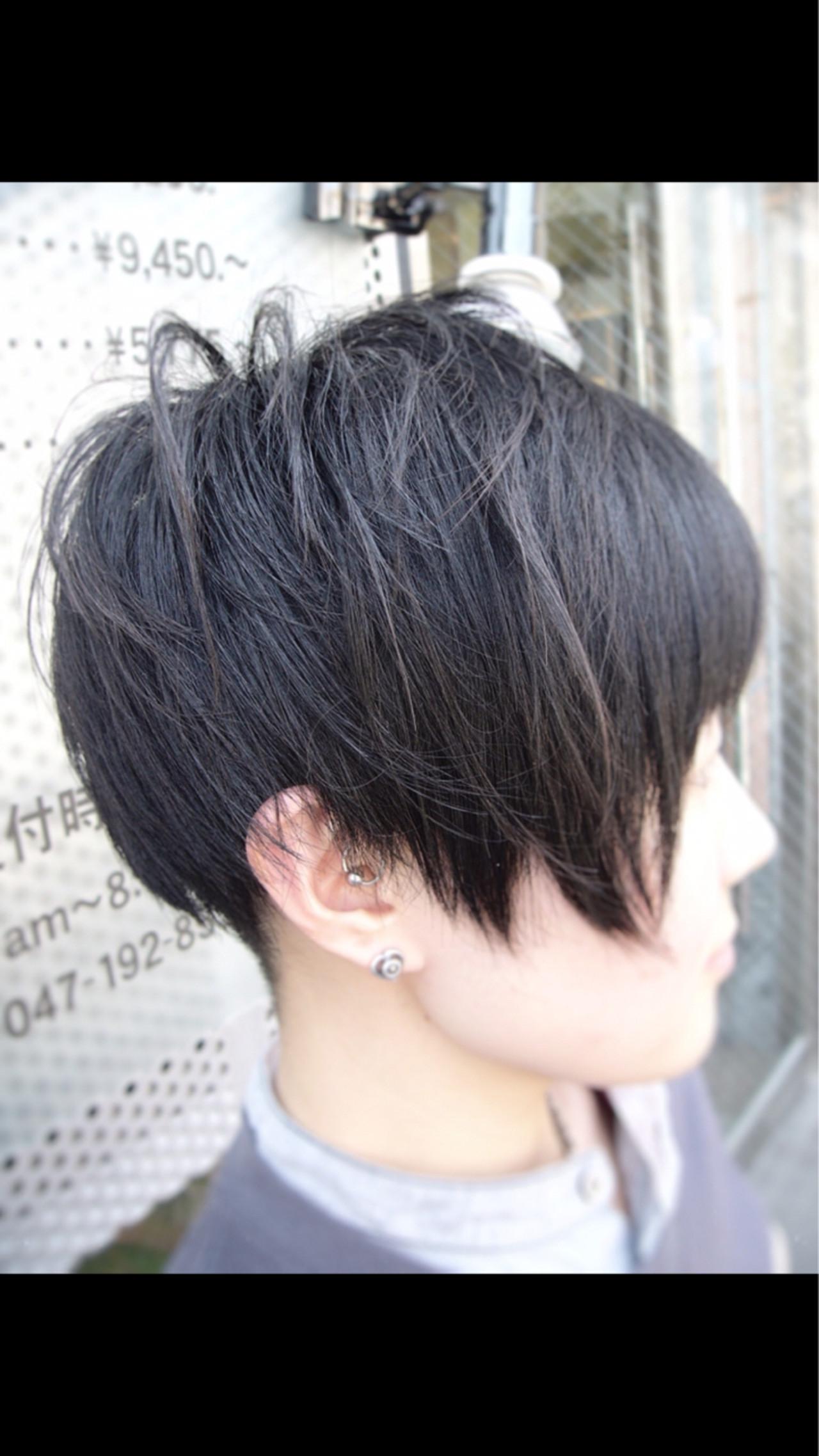 ストリート ボブ ショート 刈り上げヘアスタイルや髪型の写真・画像