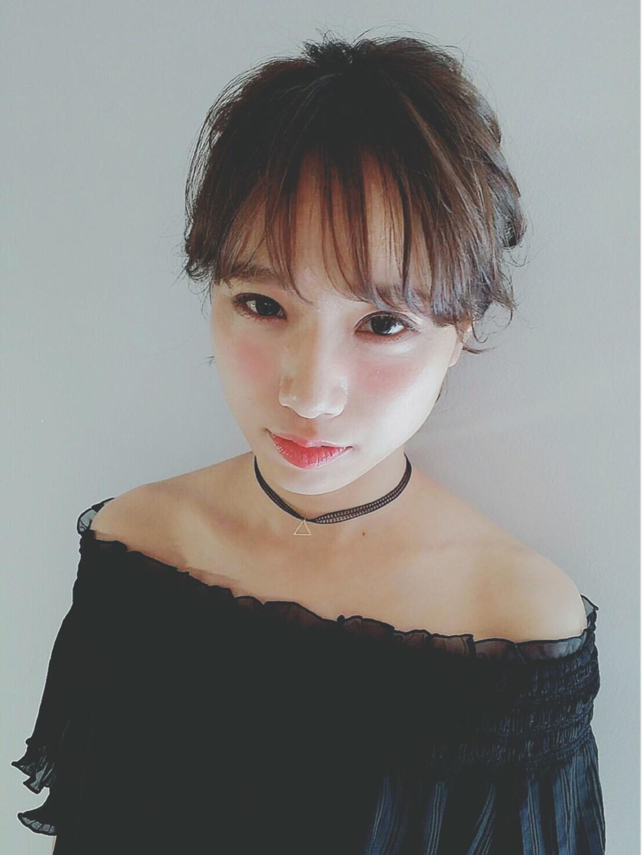 ポニーテール おフェロ 夏 ボブ ヘアスタイルや髪型の写真・画像 | Miki /