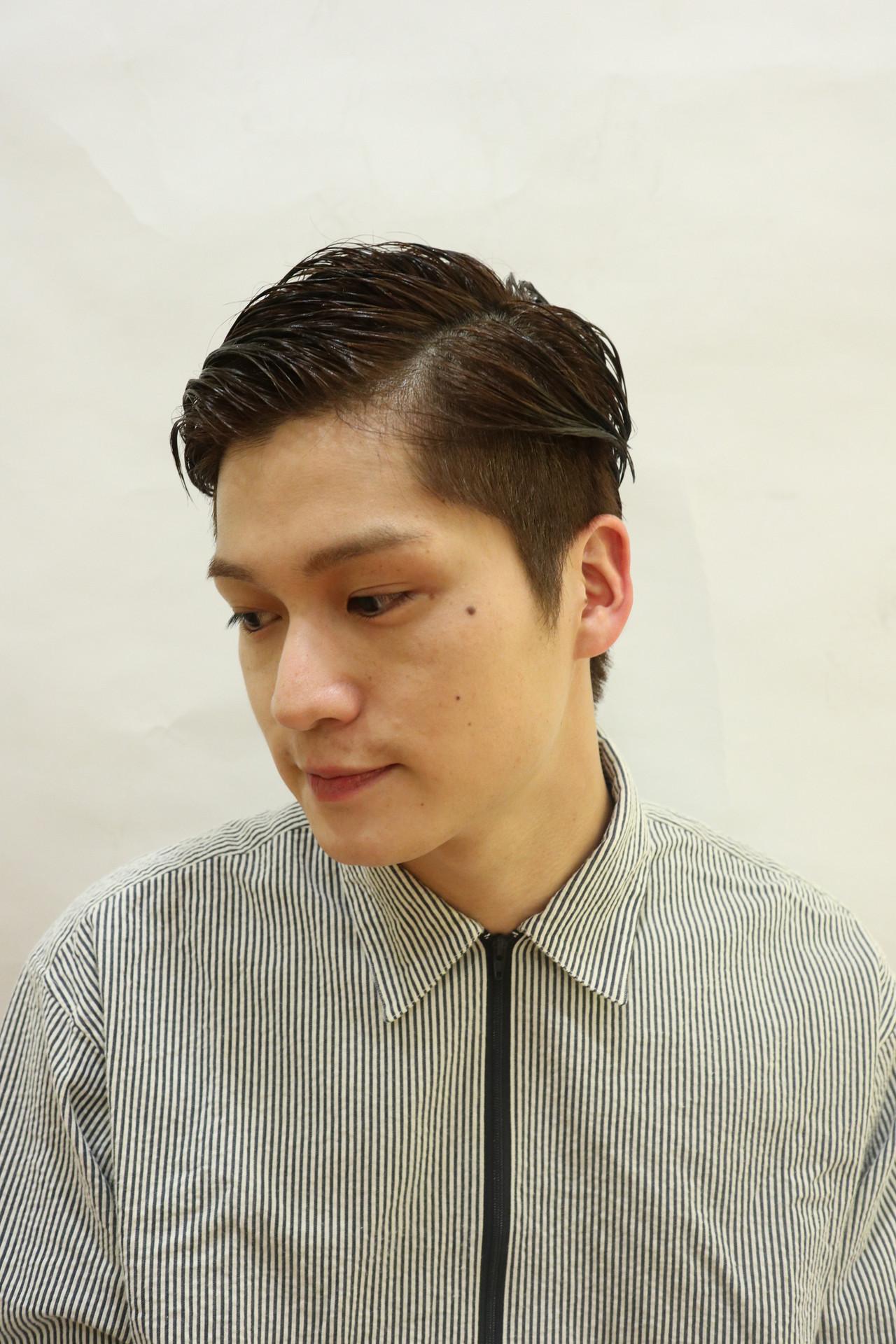 ナチュラル 刈り上げ ウェットヘア ショート ヘアスタイルや髪型の写真・画像 | 勝永 智基 / BEAUTRIUM  265