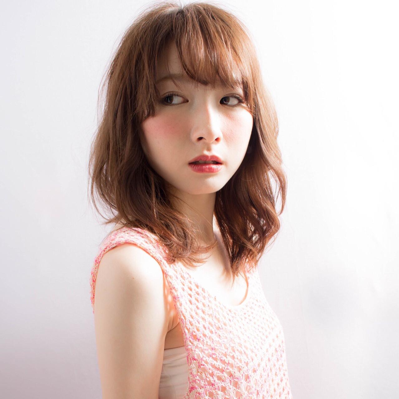 ピュア ミディアム 大人かわいい フェミニン ヘアスタイルや髪型の写真・画像 | 徳田 誠也 / HOEKHOEK