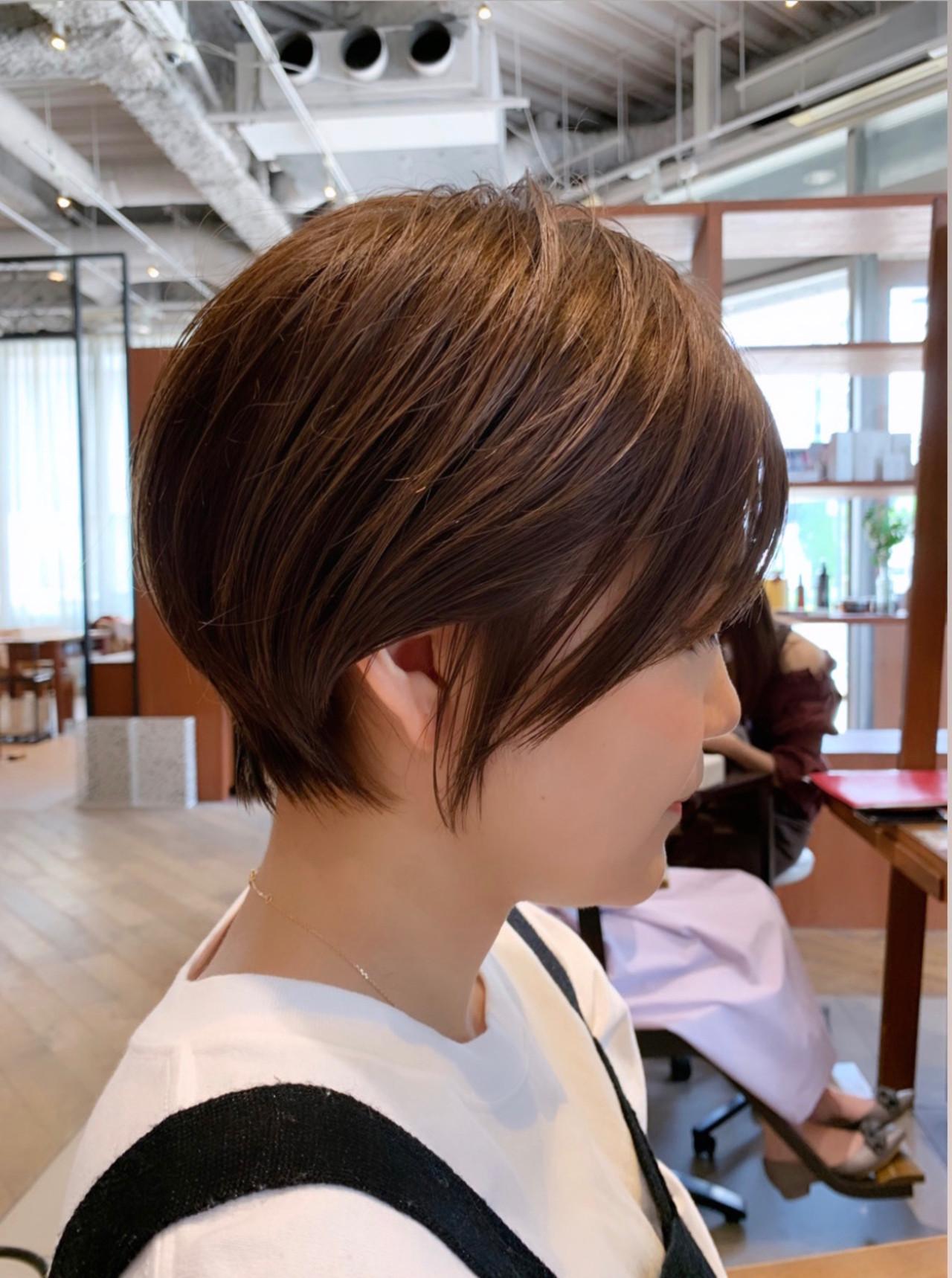 ショート ナチュラル ショートヘア デート ヘアスタイルや髪型の写真・画像 | ショート ボブ/ 早田卓矢 / cocona hair maison+