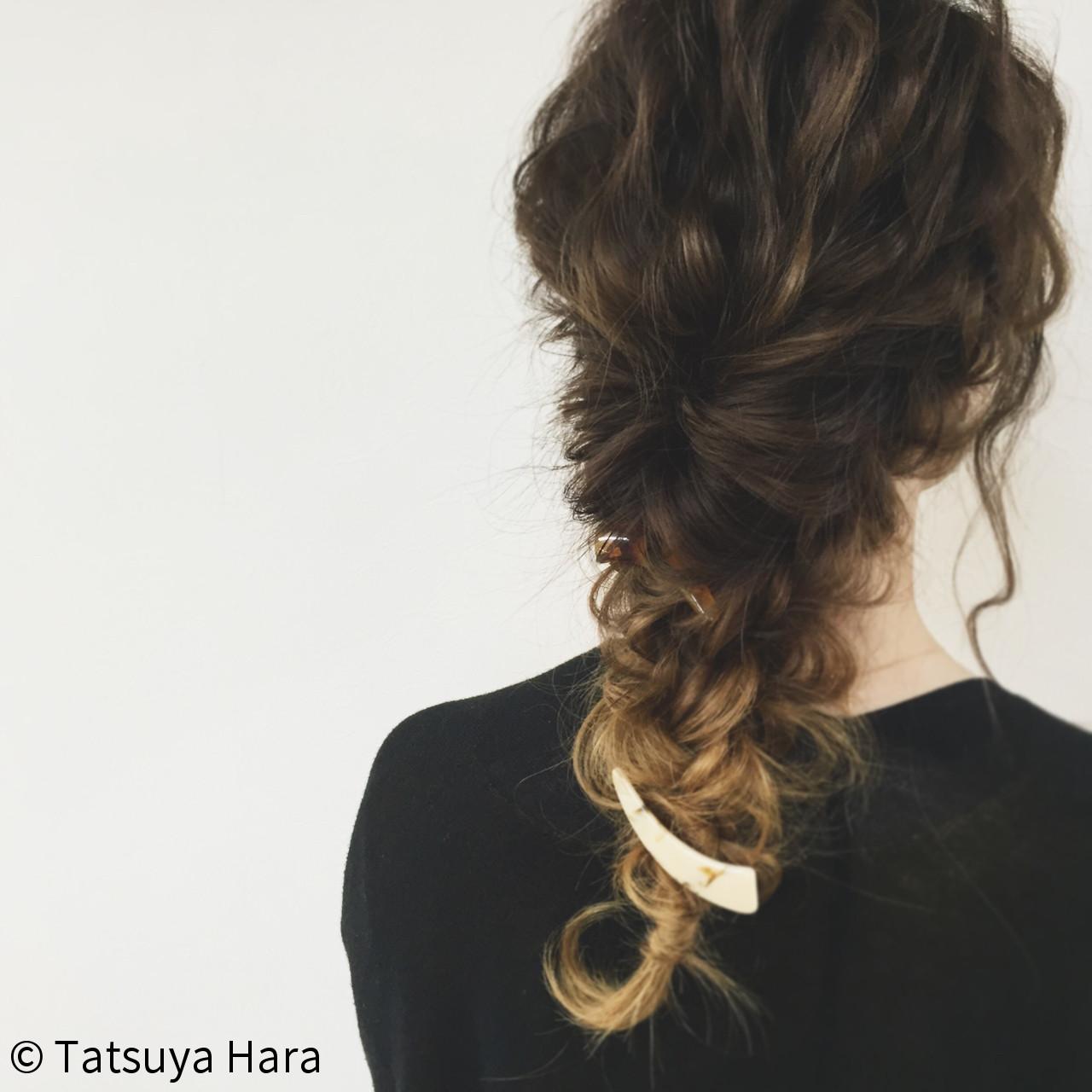 グラデーションカラー 簡単ヘアアレンジ ヘアアレンジ ショート ヘアスタイルや髪型の写真・画像 | Tatsuya Hara / Corte