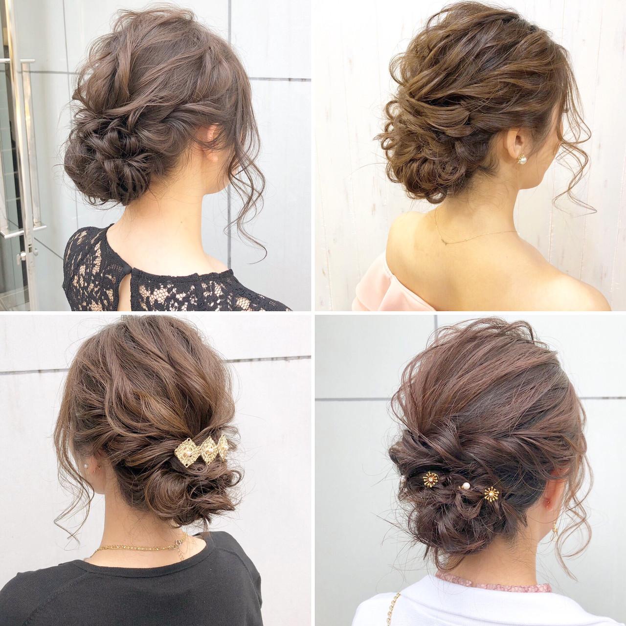 ナチュラル 結婚式 成人式 ロングヘアスタイルや髪型の写真・画像