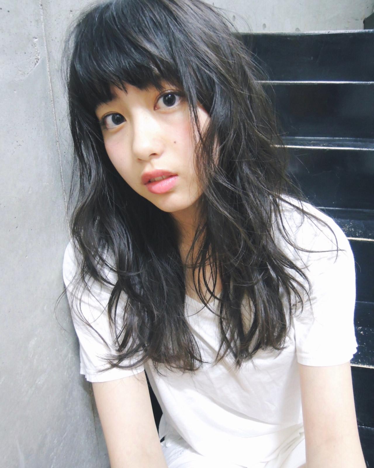 パーマでレベルアップ!無敵のかわいさ♡黒髪セミロング 吉川 ミチオ / hair design blues