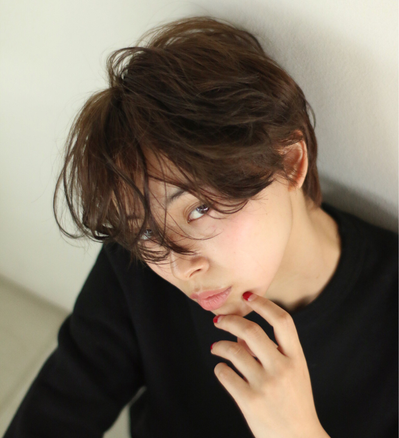 ショート パーマ ナチュラル アッシュ ヘアスタイルや髪型の写真・画像 | 高林祐也 / nanuk渋谷店(ナヌーク)