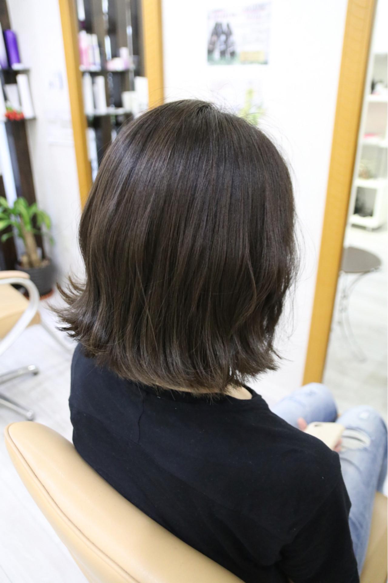 アッシュ 外国人風カラー ボブ ナチュラル ヘアスタイルや髪型の写真・画像 | 植松 裕也 / Hair design Laule'a une ラウレア