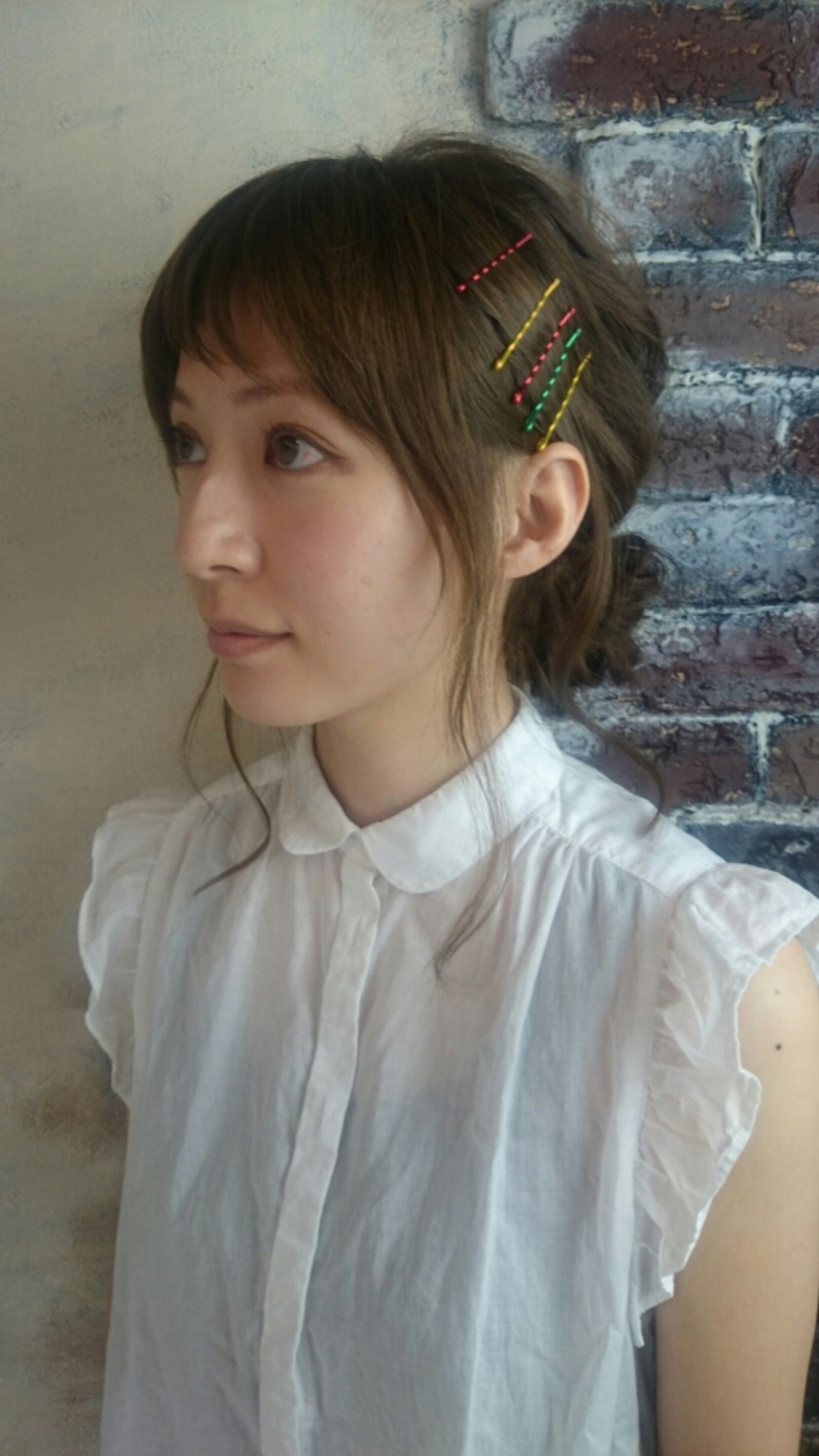 ミディアム ショート 前髪あり ガーリー ヘアスタイルや髪型の写真・画像 | 村松芳幸 / parade