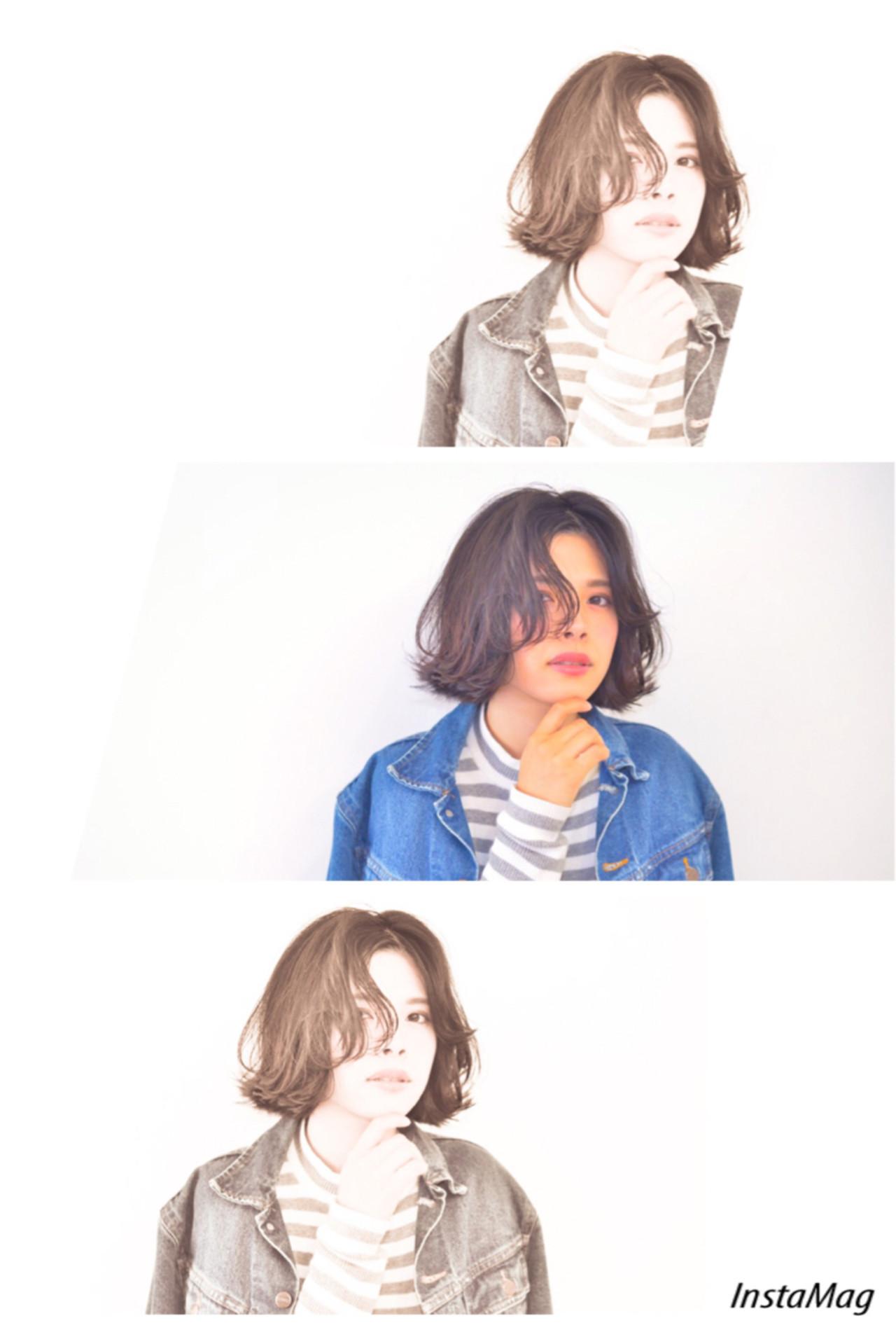 ボブ ストリート センターパート 外ハネ ヘアスタイルや髪型の写真・画像   土佐風花 / Le ciel 梅田店