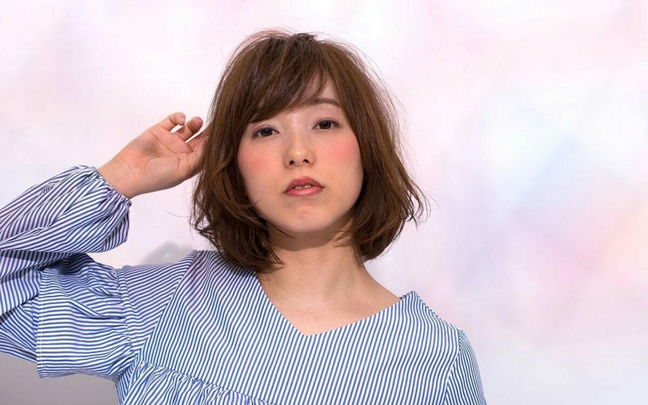 ボブ ミディアム 大人かわいい ゆるふわ ヘアスタイルや髪型の写真・画像 | asuka /