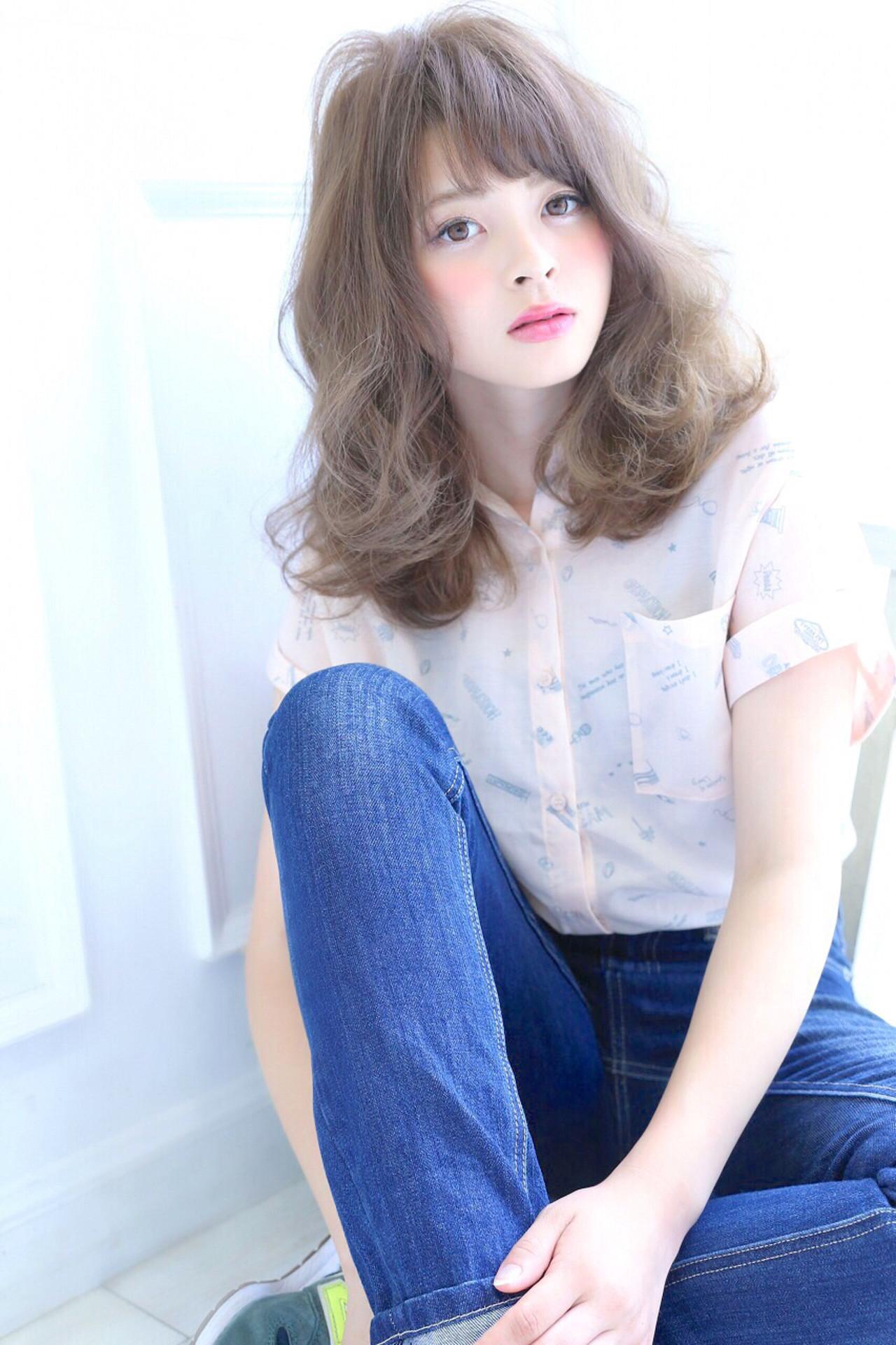 大人かわいい ミディアム 前髪あり ピュア ヘアスタイルや髪型の写真・画像 | 愛永ちゃん、 /