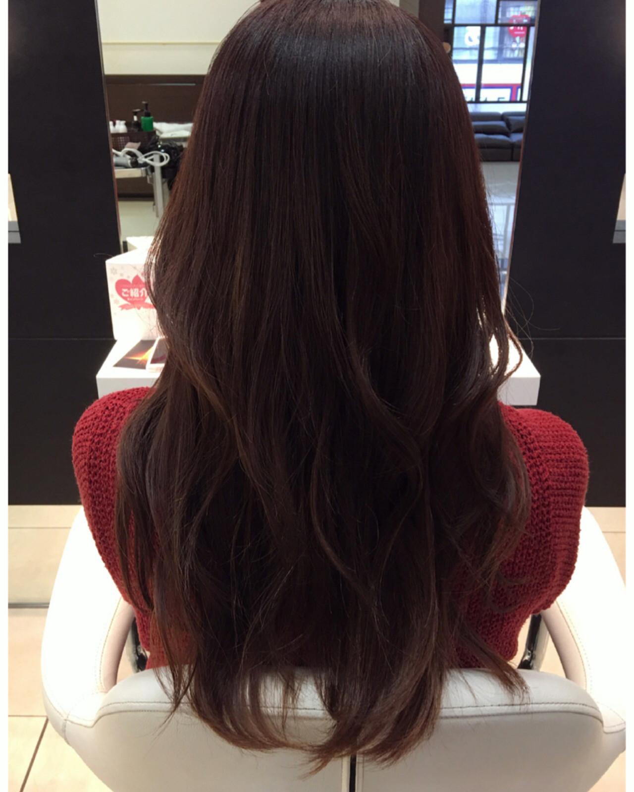 グラデーションカラー ロング ガーリー カールヘアスタイルや髪型の写真・画像