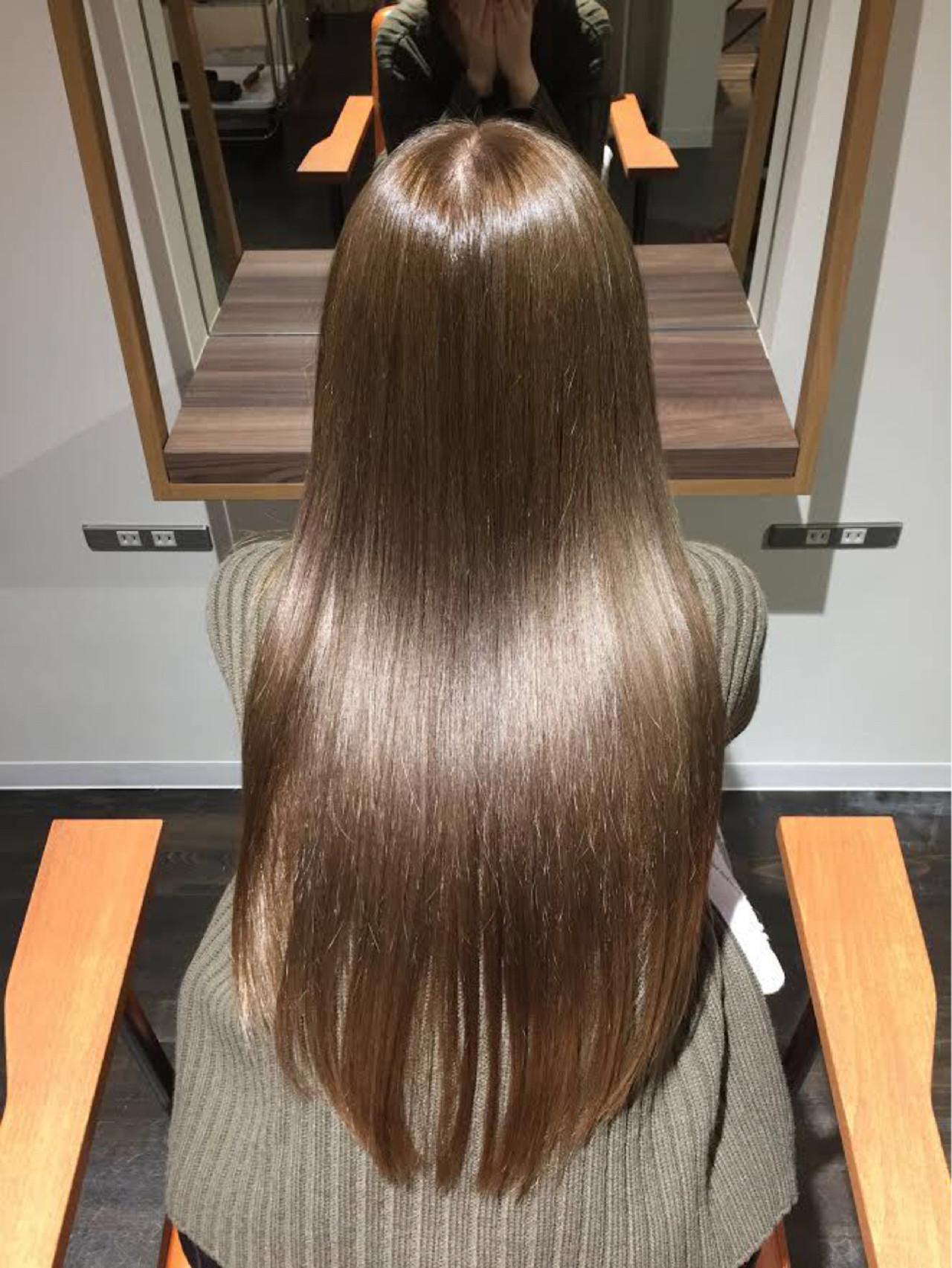 ナチュラル ロング 大人女子 パーマ ヘアスタイルや髪型の写真・画像 | 細田 直亨 / Lino** / Lino** 表参道・原宿