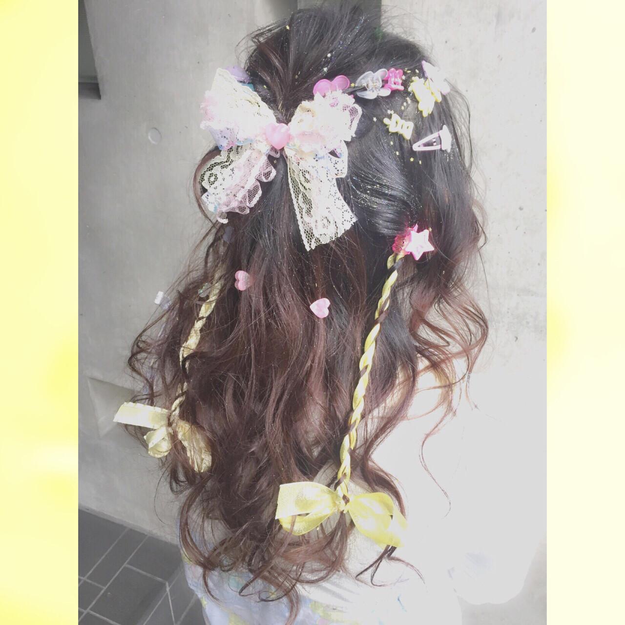 ゆるふわ ヘアアレンジ ショート セミロング ヘアスタイルや髪型の写真・画像   MOTAI / Wille / Wille