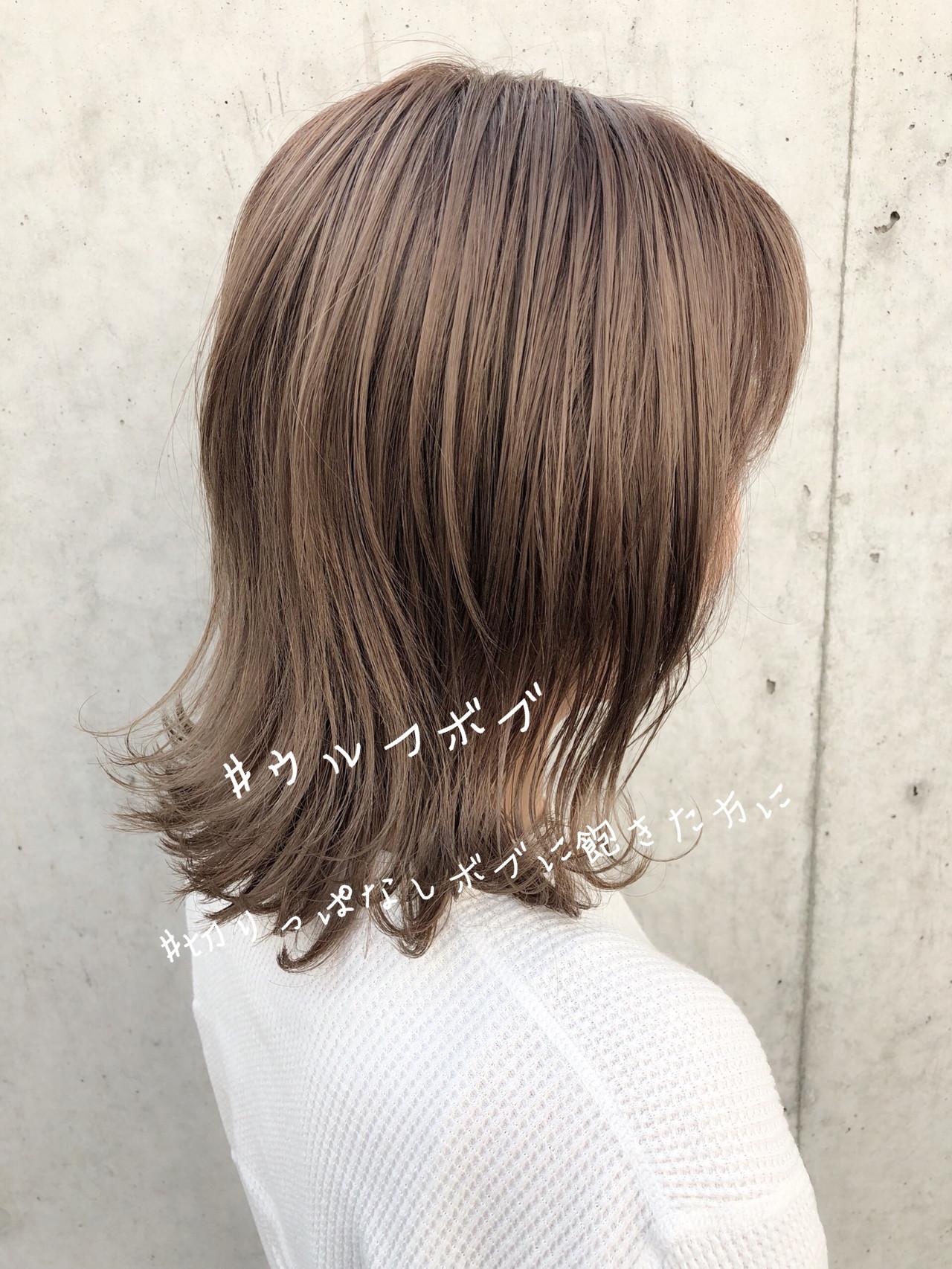 ウルフカット ヘアアレンジ デート オフィス ヘアスタイルや髪型の写真・画像 | 北村 亮 / Lano by HAIR