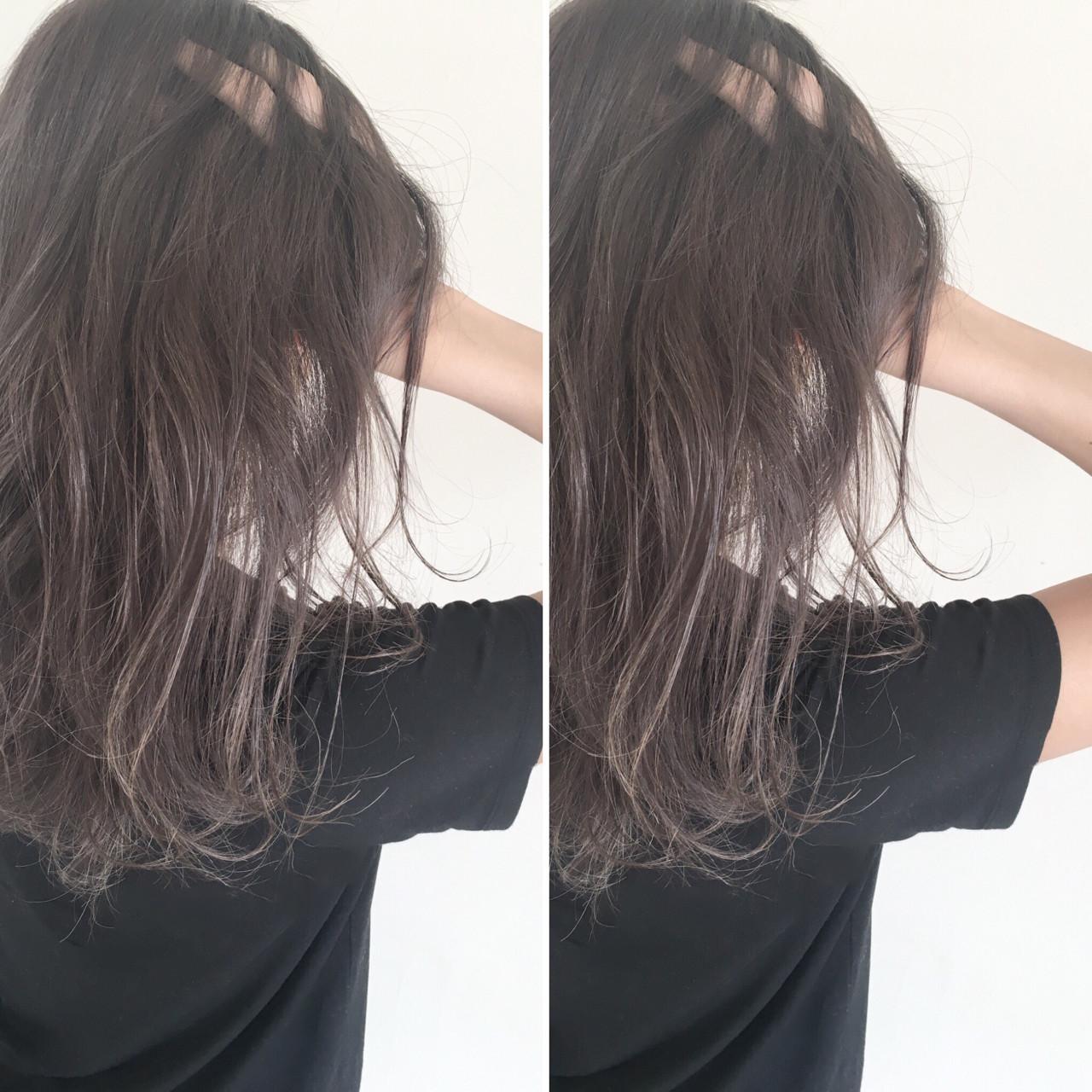 透明感 抜け感 暗髪 ナチュラル ヘアスタイルや髪型の写真・画像 | Nemoto!!!!! / SOWELU
