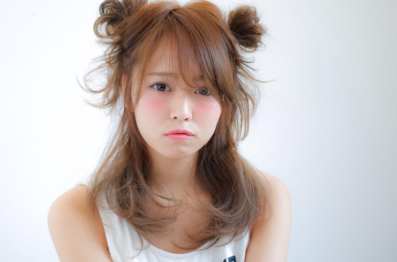 ハーフアップ ショート ゆるふわ 簡単ヘアアレンジヘアスタイルや髪型の写真・画像