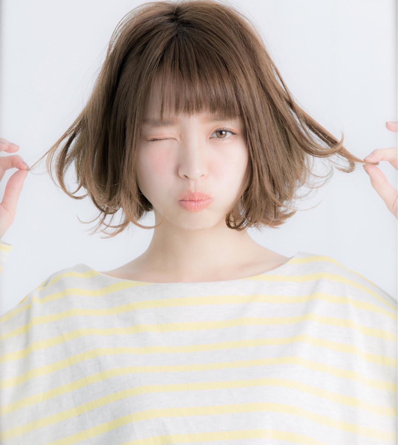 ナチュラル パーマ 外国人風 ボブ ヘアスタイルや髪型の写真・画像 | Yoshie Miyakawa / Euphoria SHIBUYA GRANDE