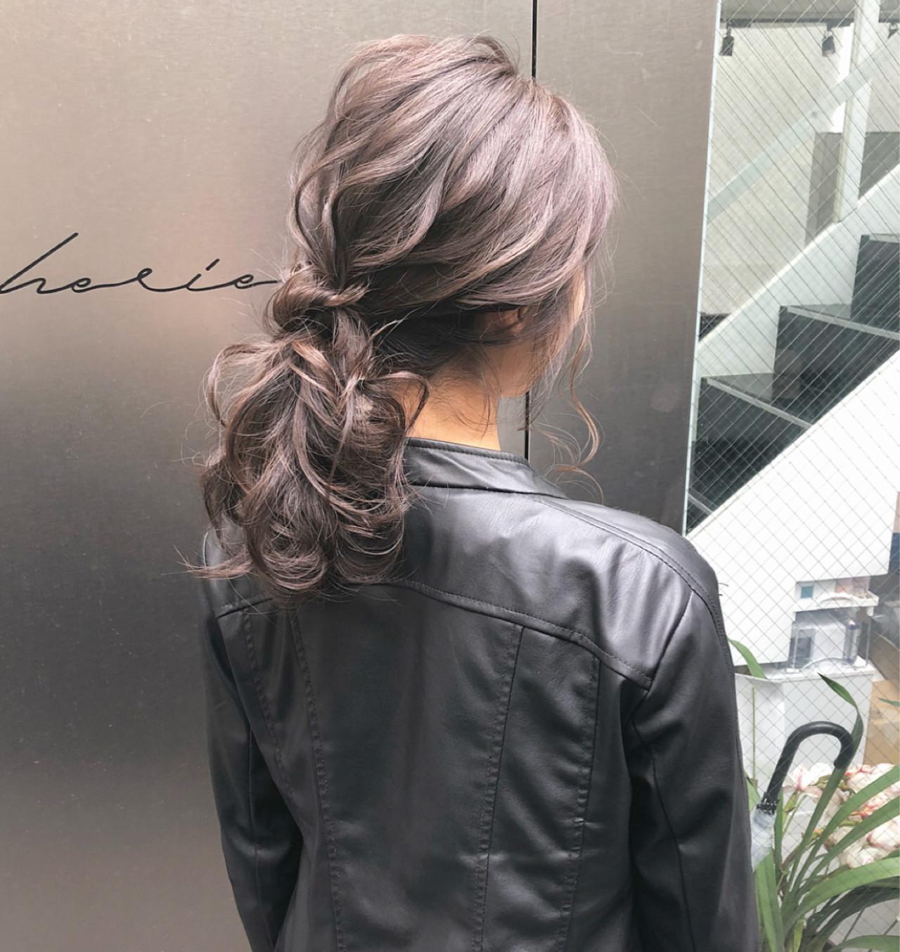 ポニーテール 簡単ヘアアレンジ ロング デート ヘアスタイルや髪型の写真・画像 | hii.de@✂︎ / Maison de sisi