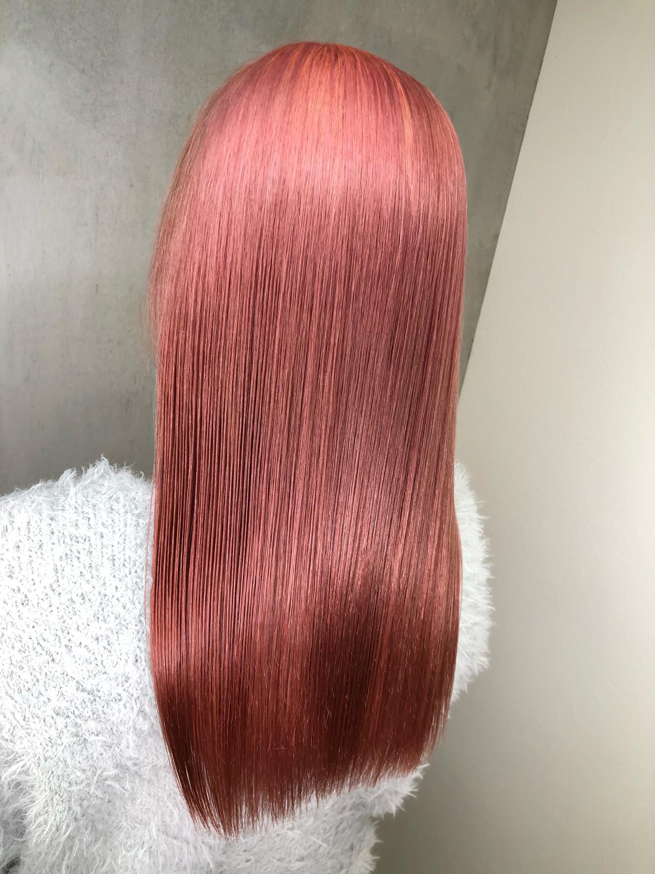 ベリーピンク セミロング ラベンダーピンク ピンクブラウン ヘアスタイルや髪型の写真・画像 | 筒井 隆由 / Hair salon mode