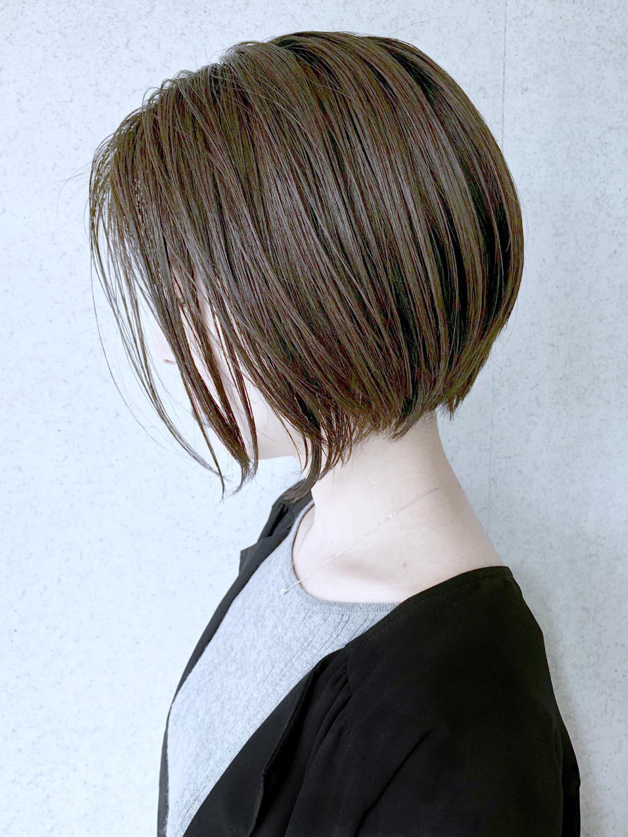 丸みショート 大人かわいい ショートボブ ボブ ヘアスタイルや髪型の写真・画像 | 米村ススム / morio from London narimasu3