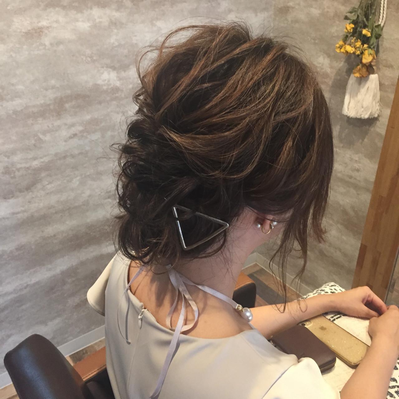 ヘアアレンジ 成人式 ナチュラル 結婚式 ヘアスタイルや髪型の写真・画像 | Aco / atelierAmeRi