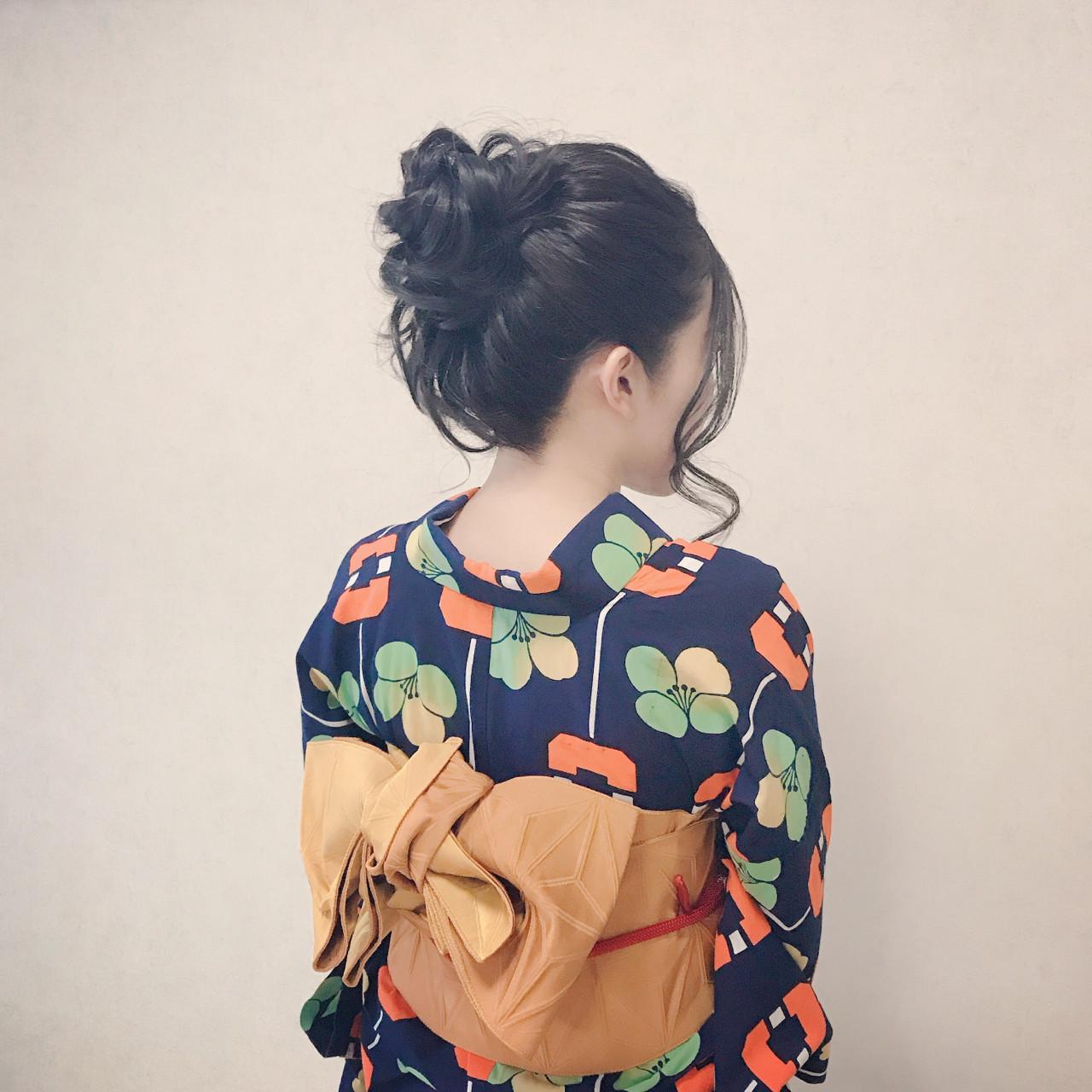 デート ヘアアレンジ ロング エレガント ヘアスタイルや髪型の写真・画像 | Moriyama Mami / 福岡天神ヘアセット・着付け専門店【Three-keys】