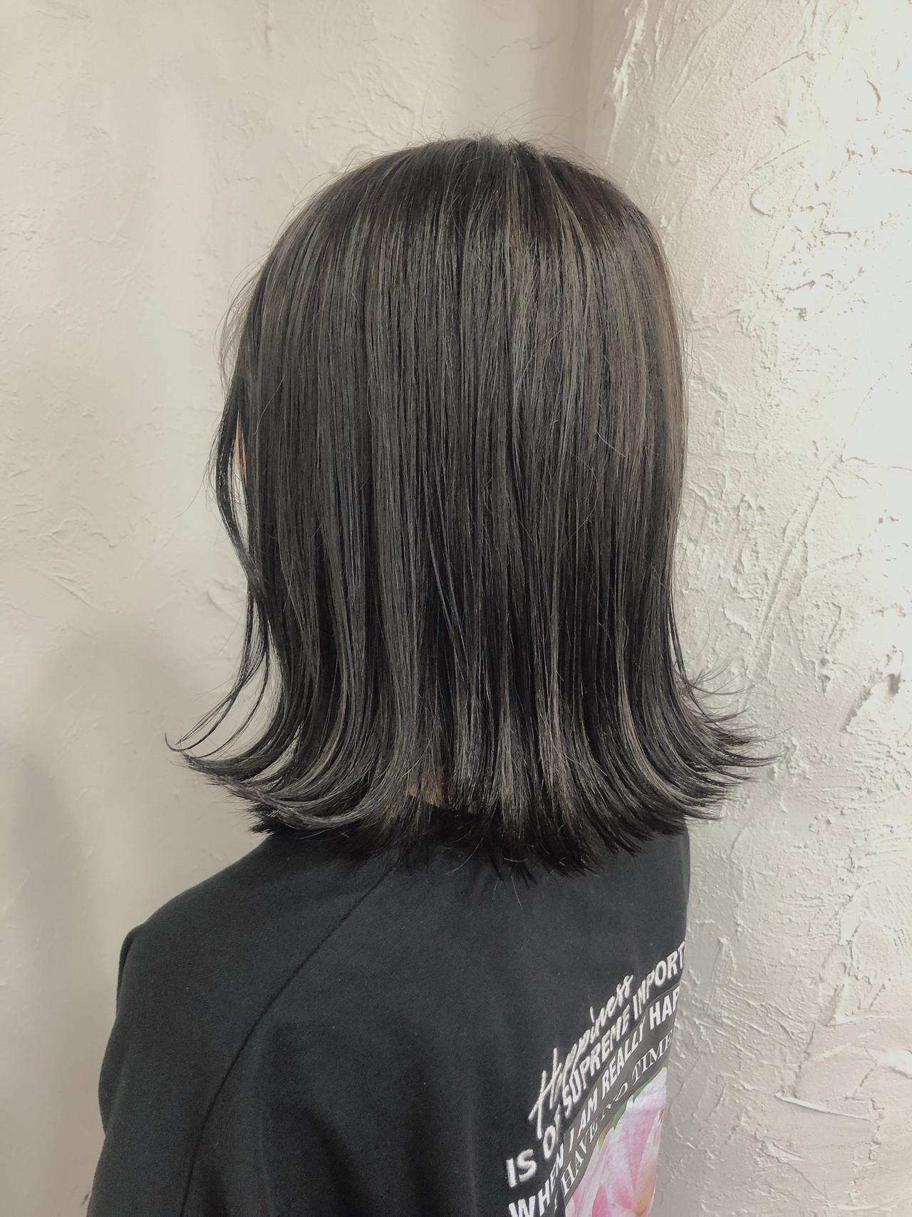 外国人風 ミディアム バレイヤージュ ナチュラル ヘアスタイルや髪型の写真・画像 | 石川美沙樹 / RITA&Co.