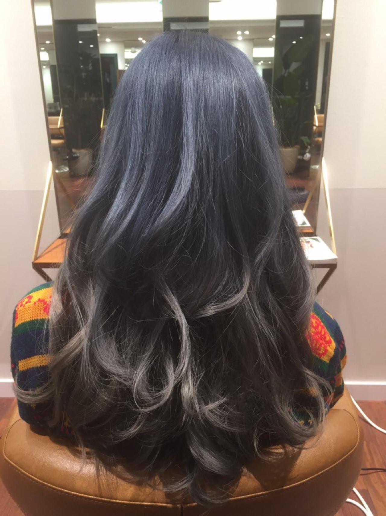 外国人風 大人かわいい ブルージュ グラデーションカラー ヘアスタイルや髪型の写真・画像 | Yoshiya Kadota / NYNY 大久保店