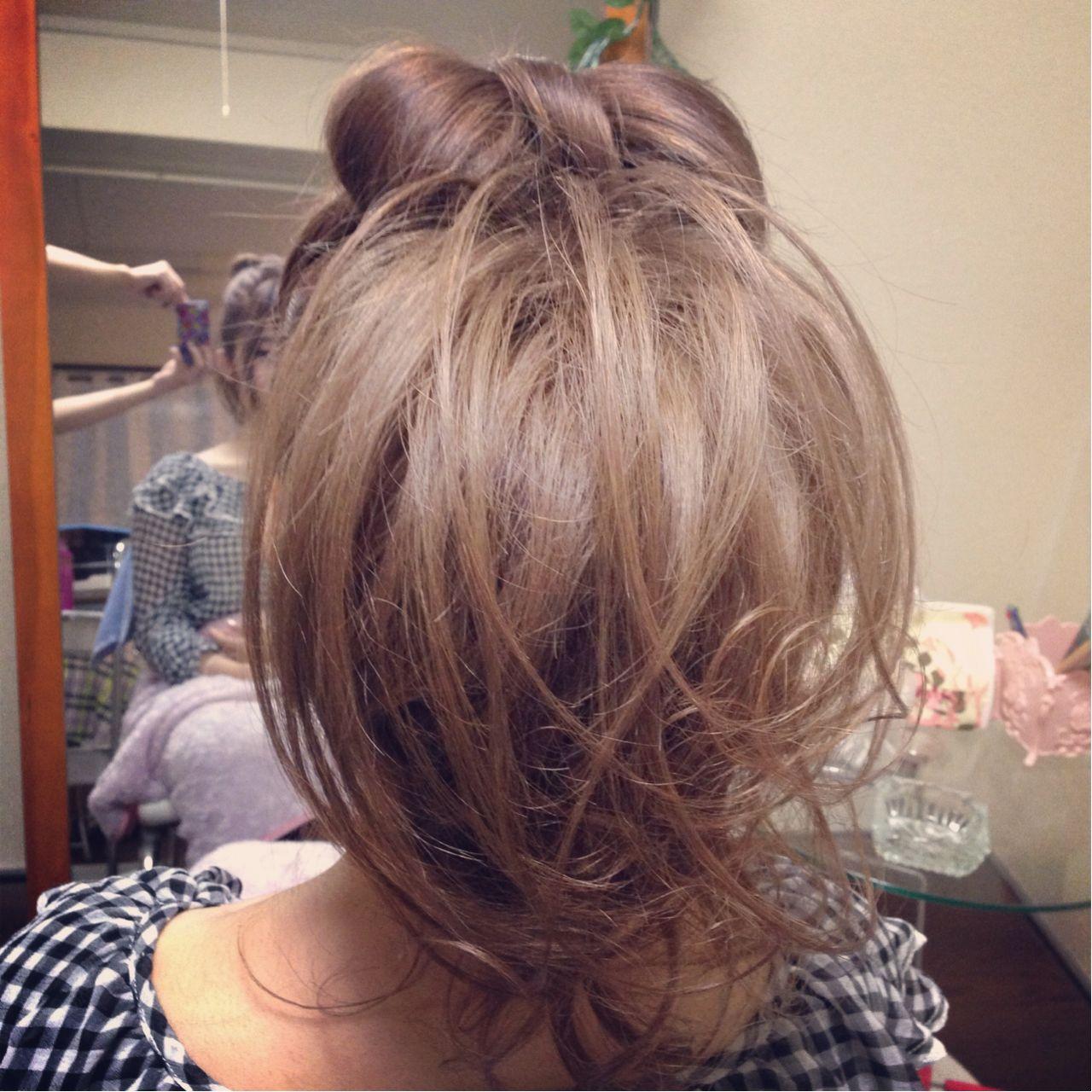 ガーリー 渋谷系 ヘアアレンジ モテ髪 ヘアスタイルや髪型の写真・画像 | CHARMER / CHARMER