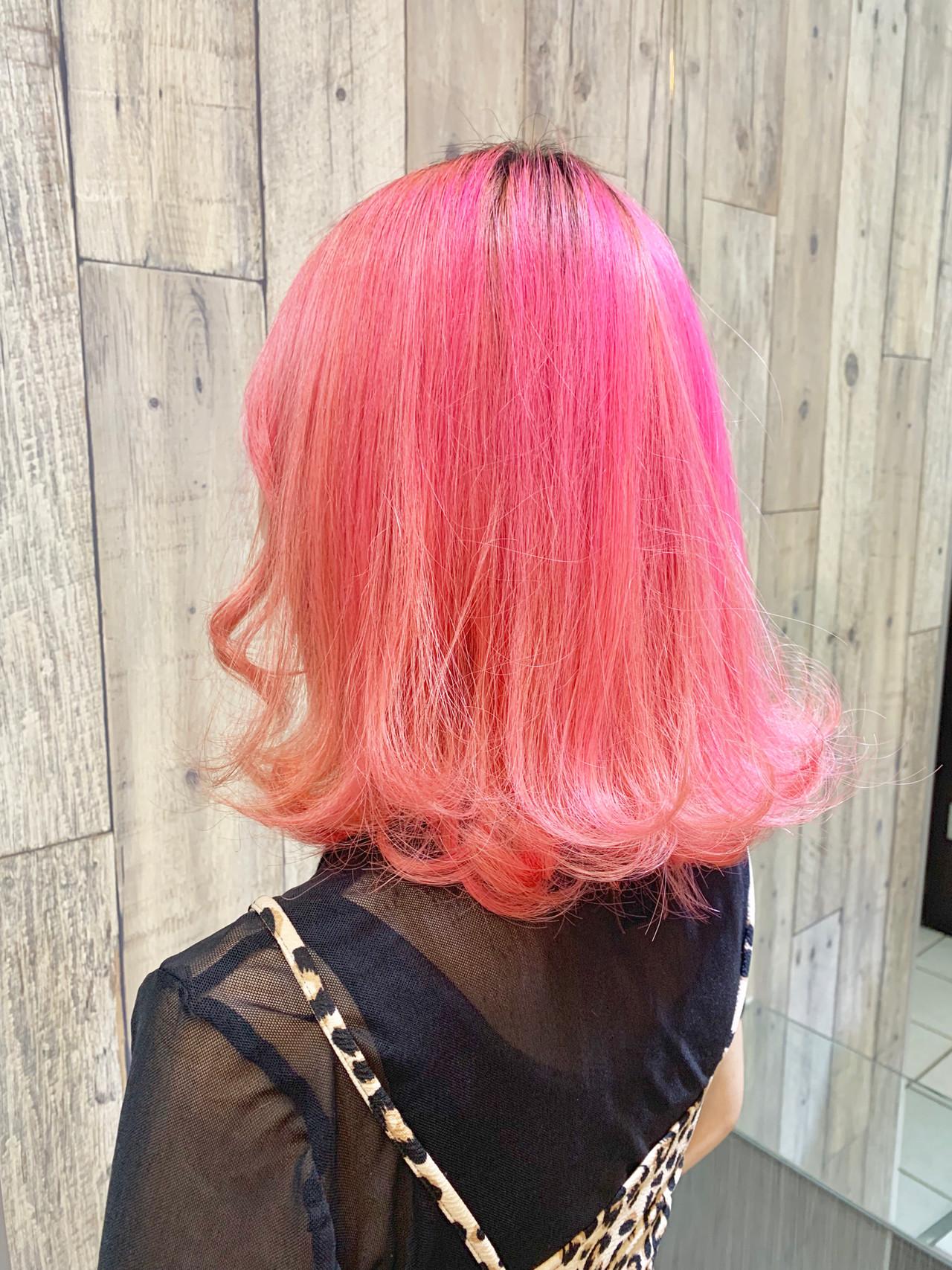 ピンクアッシュ ベリーピンク ラベンダーピンク ミディアム ヘアスタイルや髪型の写真・画像 | 土屋一貴 / TOMCAT