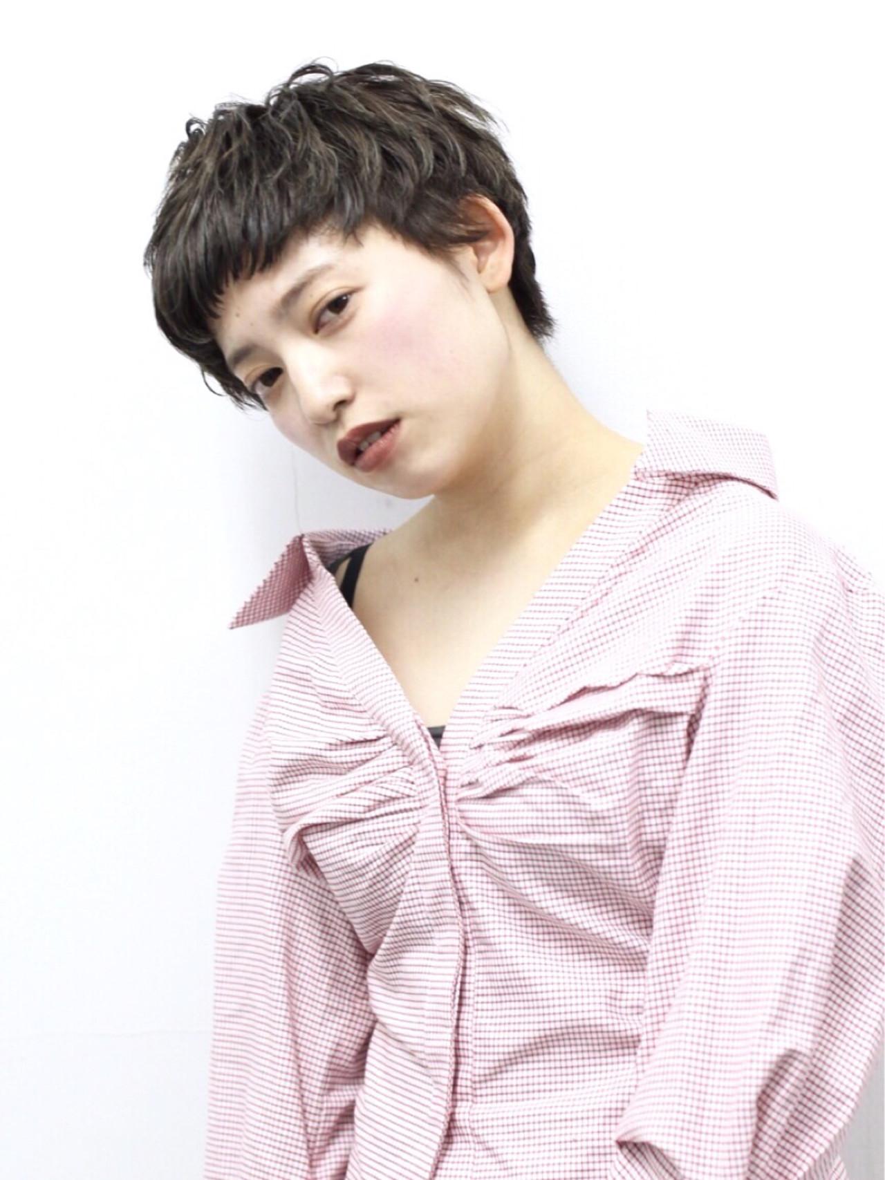 アッシュ 前髪あり ショート モード ヘアスタイルや髪型の写真・画像 | 井上 拓耶 / know hair studio