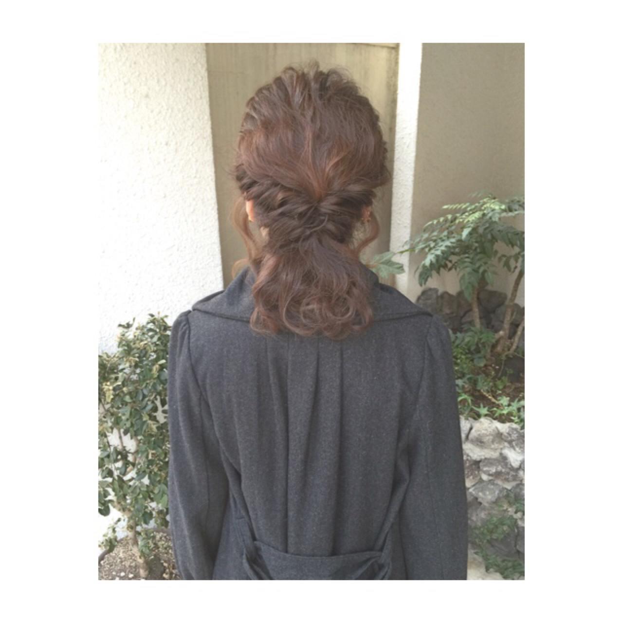 ヘアアレンジ ガーリー ゆるふわ 簡単ヘアアレンジヘアスタイルや髪型の写真・画像