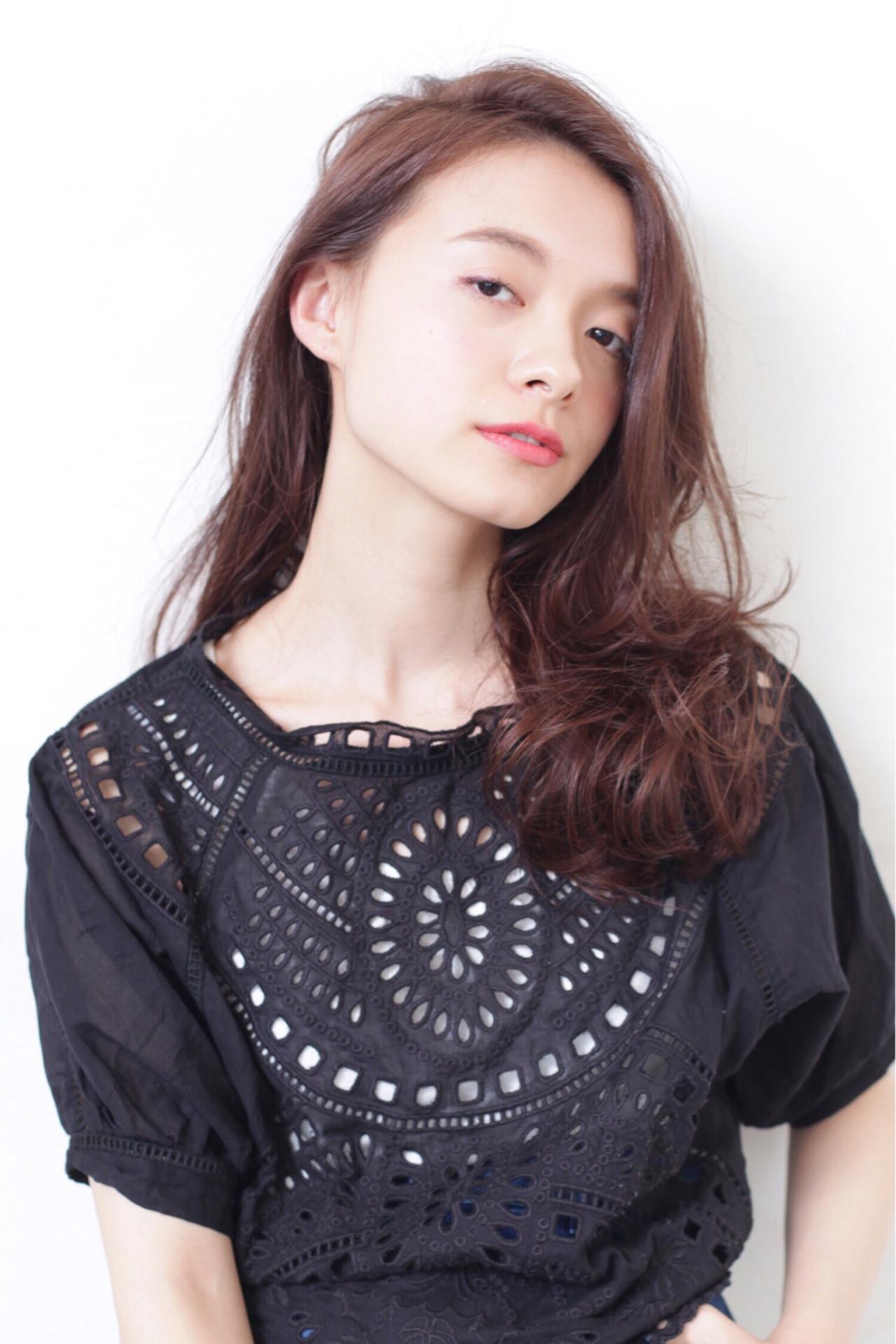 エレガント ナチュラル ロング おフェロ ヘアスタイルや髪型の写真・画像 | yukari /