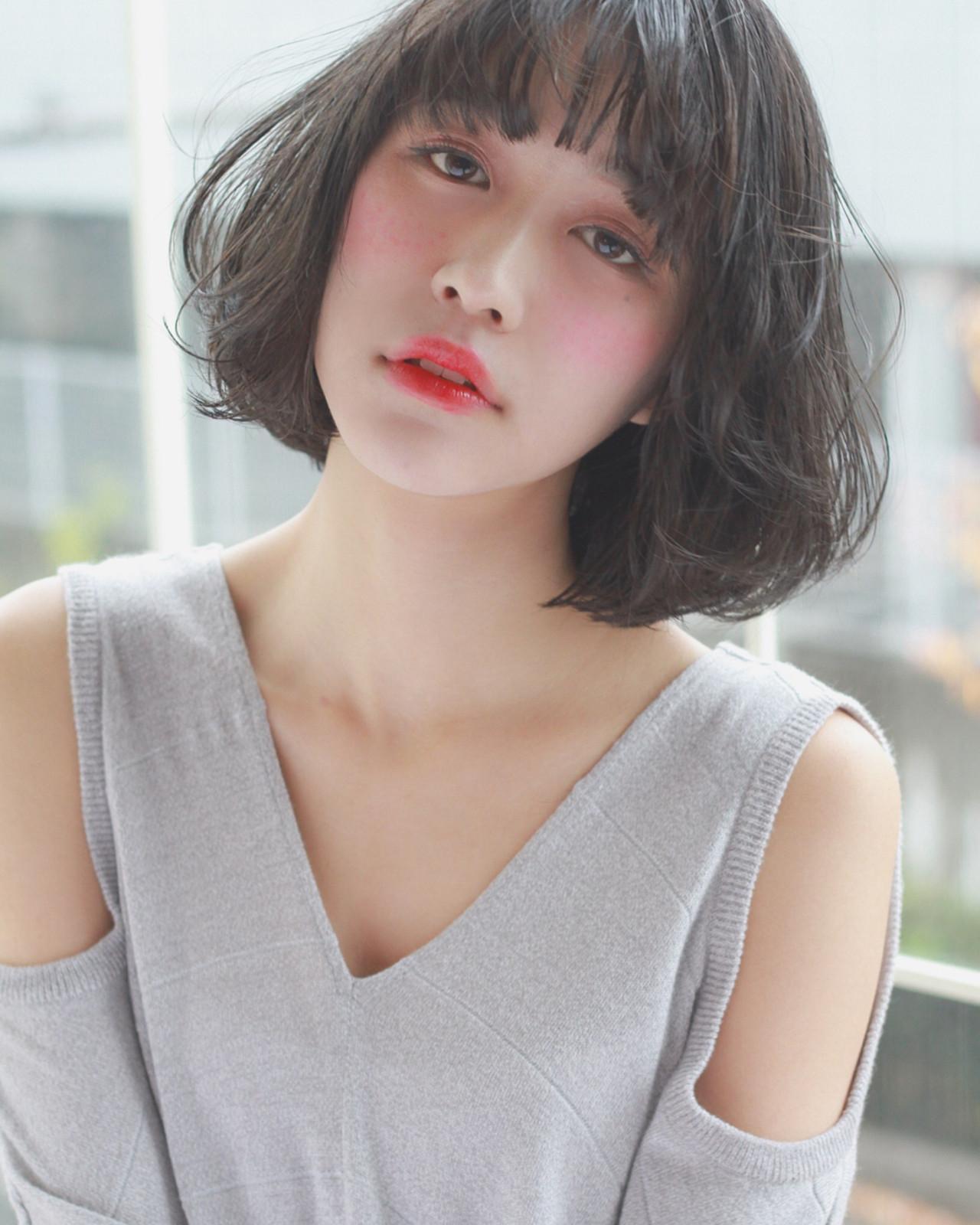 アンニュイ ボブ こなれ感 大人女子 ヘアスタイルや髪型の写真・画像 | 須賀 ユウスケ / Rizm