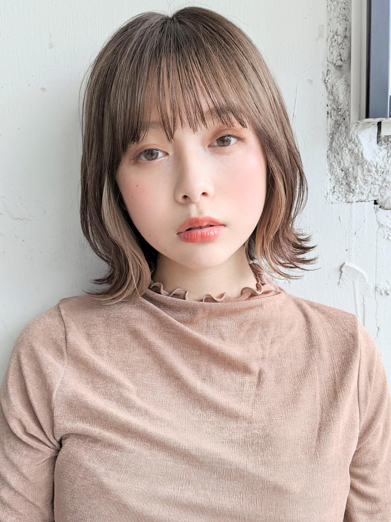 くびれカール ロブ デート ベリーショートヘアスタイルや髪型の写真・画像